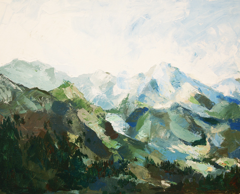 Mountain I. Acrylic on canvas, 2012