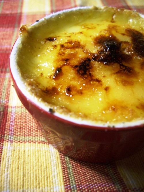 Creme Brulee first time trying to brulee something without a blowtorch…. got burned…