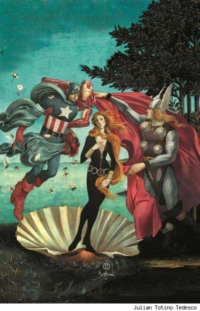 After Botticelli (The Birth of Venus)