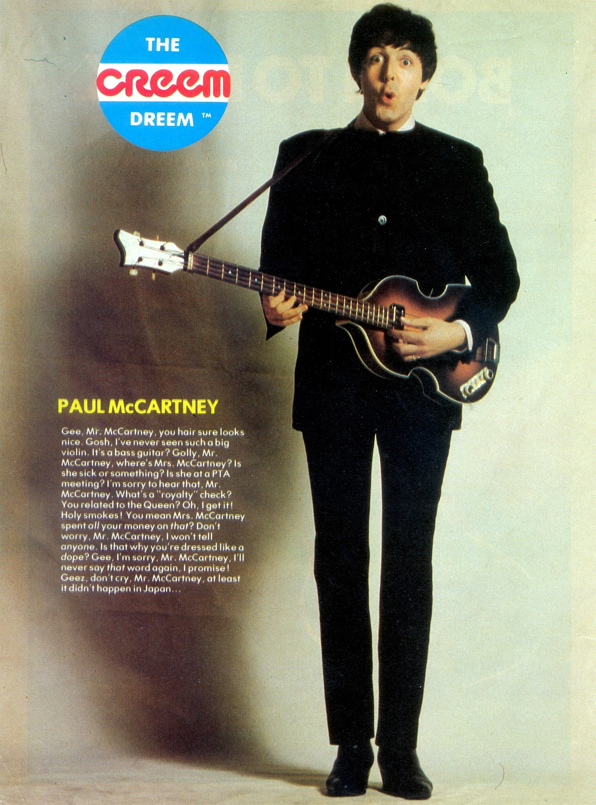 Believe it or not, that's Paul in 1980.