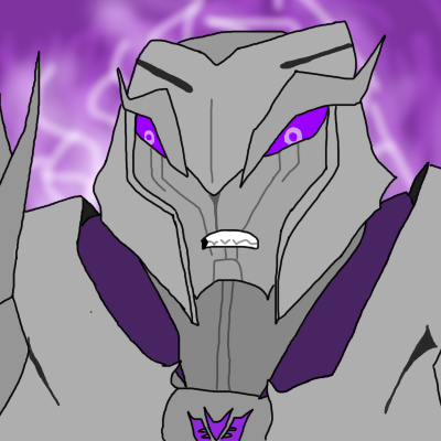 I  tried to draw Megatron…. I'm not that good /sigh/