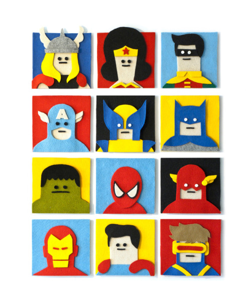 somewhereontheiceplanet:  Felt Heroes by Jacopo Rosati