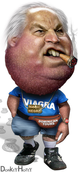 If you are what you eat, then Rush Limbaugh must eat ginormous dicks… Awesome Art Courtesy Of  Donkey Hotey