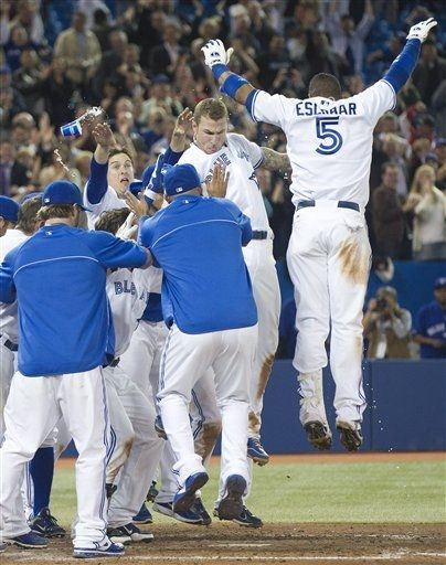dominicanflava99:  SHOUT OUT to Brett Lawrie on his FIRST CAREER Walkoff homerun tonight against the Texas Rangers off of Mike Adams for an 8-7 victory.   Epic game tonight and great way to finish the game!