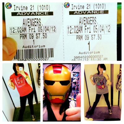 I had an Avengers filled Day :]! By the way I'm posing like that because it relieves some of the pain on my foot. I just realized people probably think I'm a poser. I've been waiting for this film since 2008. And have been an avid/hardcore fan of Marvel Comics since 2005, dude I was 11. I can legitimately fangirl over this.