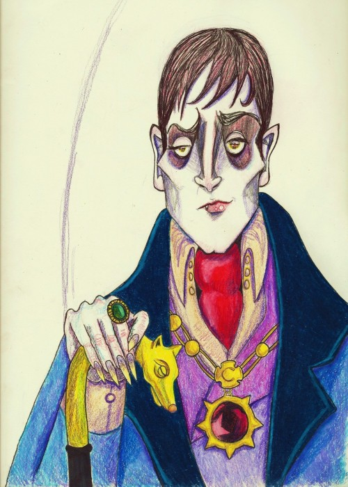 sketchbookjammy:  Dark Shadows. Barnabas Collins. Unedited version of the drawing I made for the deviantart contest.
