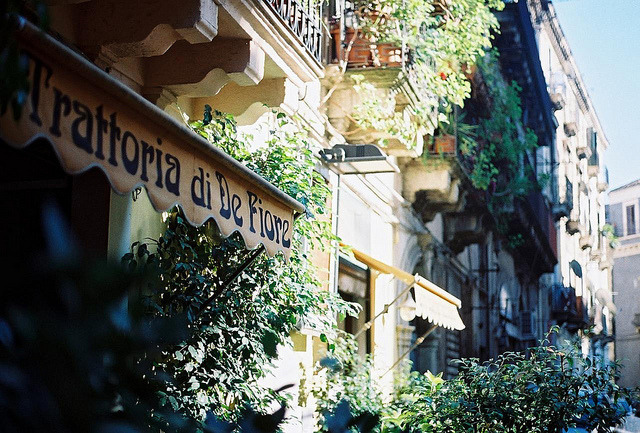 | ♕ |  Sunny alley in Catania - Sicily  | by © Joe Boyle | via ysvoice