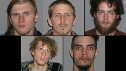 "Occupy Cleveland ruffians arrested in plot to blow up bridge. Authorities say at least three of the men are self-proclaimed anarchists who had considered ""a series of evolving plots over several months."" Why does no one refer to these men as terrorists?  Can they not also be terrorists in addition to anarchists?"