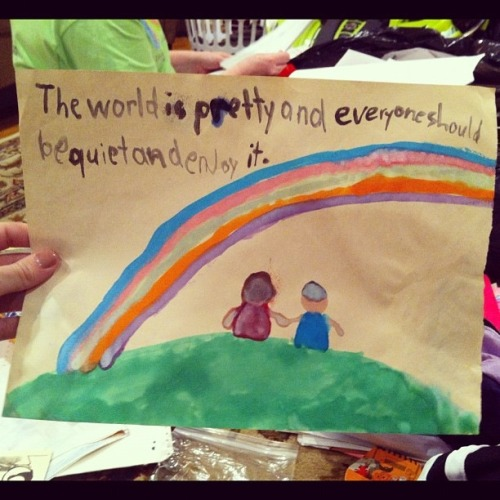 "wilwheaton:  ""The brilliant philosophy of a first grader."" (via Reddit)"