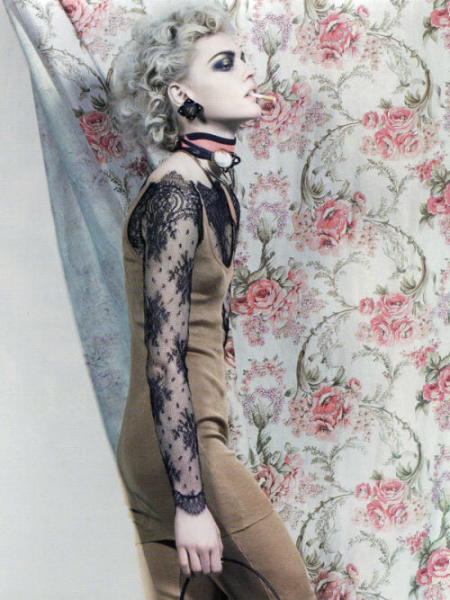 tobaccochic:  Romance Gothique Sasha Pivovarova by Craig McDean for Vogue Paris March 2008