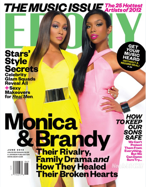 Monica & Brandy on the cover Ebony magazine The Music Issue