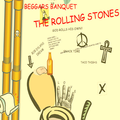 Please send help. clipartcovers:  Beggars Banquet by the Rolling Stones. Original.  Submitted by southtwelfth.