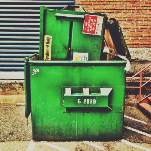 el-pee:  DUMPSTER INCEPTION. I'm not sure this is the correct way to dispose of a dumpster. Or maybe its the EXACT right way. I don't know how to feel about any of this.