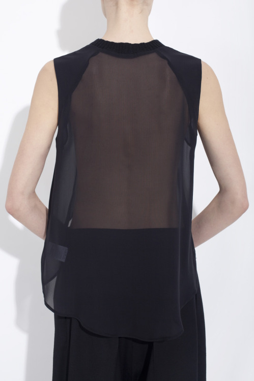 explosionspace:  Asymmetrical organic silk chiffon top by Bruno Pieters
