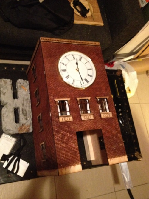 Clock facade is almost finished.
