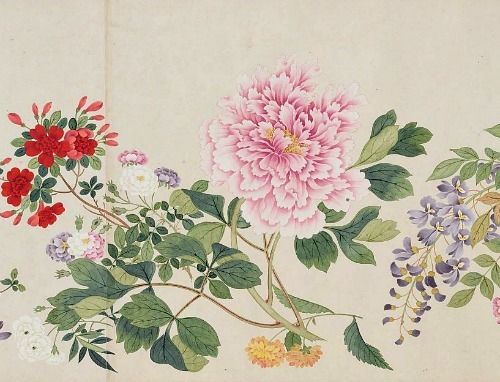 Qian Weicheng Profusion of Flowers 18th century