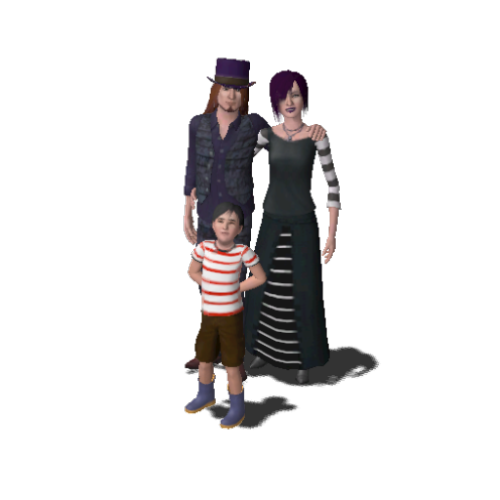 Trying to make sense of the Sims' world, including the recurring Goth family