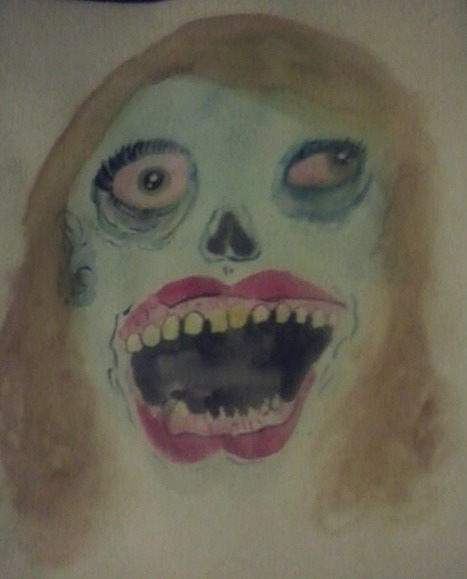 A water color painting of Kaila in the morning