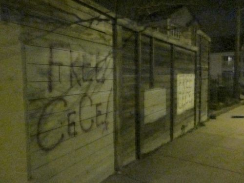 FREE CECE!!!!  freececemcdonald:  ALL of these FREE CECE tags went up last night all over South Minneapolis. Third day of trial starts tomorrow, hopefully opening statements will begin too now that jury selection is almost over. For more info on her case go to CeCe McDonald's website: www.supportcece.wordpress.com