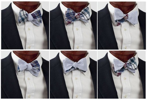 Ryan Patch Madras Seersucker Reversible Bow Tie, The Cordial Churchman Handcrafted in South Carolina, USA