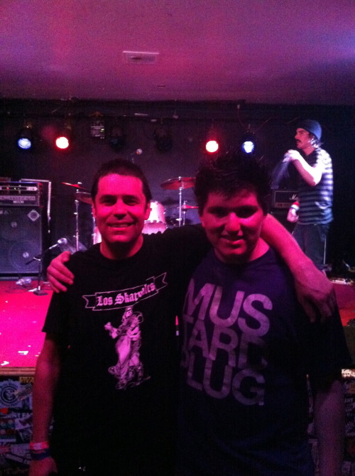 On 4/20 i went to a mustard plug show and got the honor to take a pic Dave Kirchgessner and Colin Clive packing up for their next show in the background! It's pretty cool!!