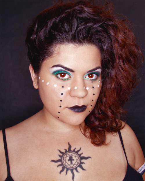 tribal goth  model- Elisia Simmons used Urban Decay Zero & Graffiti + Sugarpill Tako on eyes