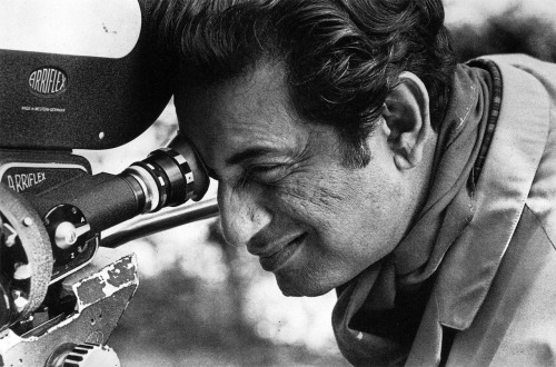 Do you always enjoy shooting? Satyajit Ray: Yes. Every stage of it, and not just the shooting. First, it's finding a story that excites you. Second, it's converting the story into the terms of a screenplay. Third, it's casting, which I do myself. People just come to my house. There's a knock on the door, and there's somebody waiting outside with acting ambitions. I usually keep a photograph, name, address, and vital statistics. Eventually, I may send for the person. This has happened many times. Then, of course, there are costume design and the set. I'll sit down with my art director to decide on the props. For this particular film, The Chess Players, all the props were period ones. All the shawls, the lovely ornamental things the characters wear, some of them have come from museums. But most of the have come from private collections in Calcutta. Then the shooting itself is exciting, despite all the difficulties. Next come the rushes. Most exciting of all is sitting at the Movieola and cutting, which is when the thing comes to life. I do my own music, also. That, too, is exciting.   You really are a filmmaker, then, and not a film director.Satyajit Ray: I am a filmmaker. It says so on my passport. Auteur!