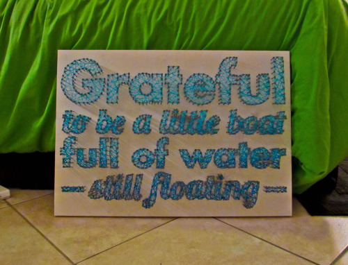 effyeahnerdfighters:  String art I made of my favorite quotation by John from this video: http://www.youtube.com/watch?v=tX9Lksea41w (submitted by kylez)
