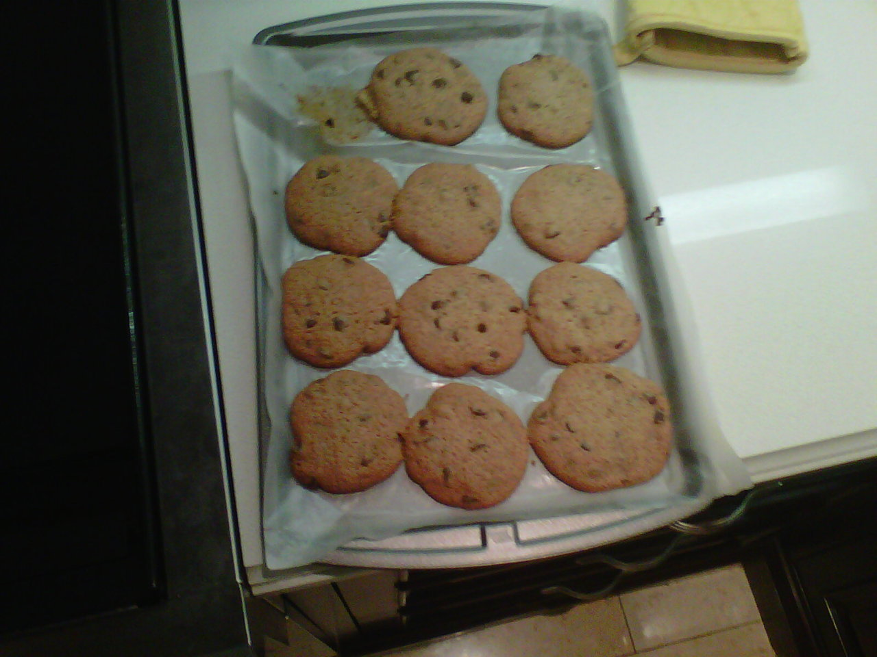 my successful chocolate chip cookies :)
