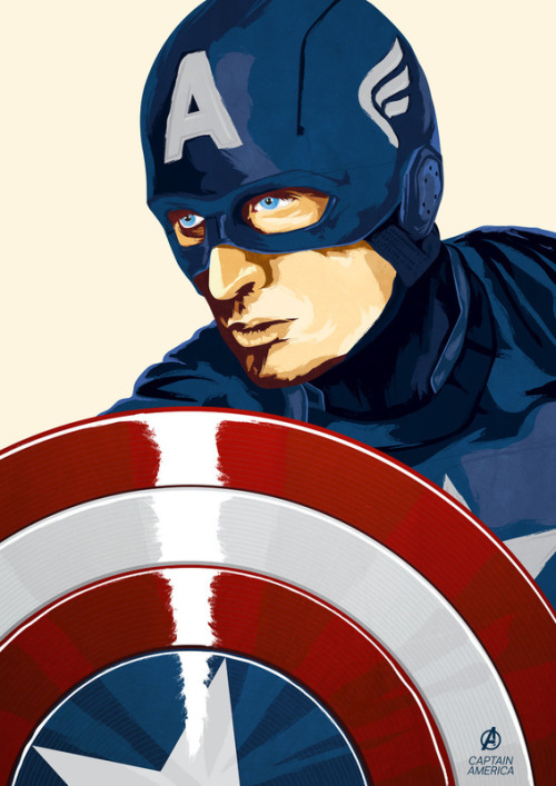 Captain America - by Terry Clarke Prints available at Society6