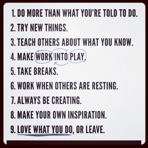 Rules of a Creators life. #5goals1week (Taken with instagram)