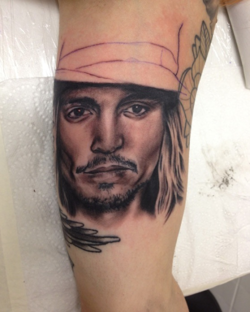 My Johnny Depp portrait!!  Fuck yeaaahh! :):)