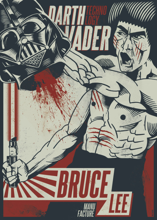 ea5e95:  Bruce vs. Darth Created by Andy Paneque