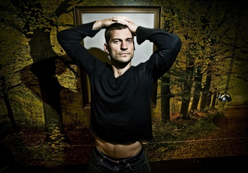 Daily Nikolaj pic (because I need that pleasure trail and those hipbones on my dash this morning)
