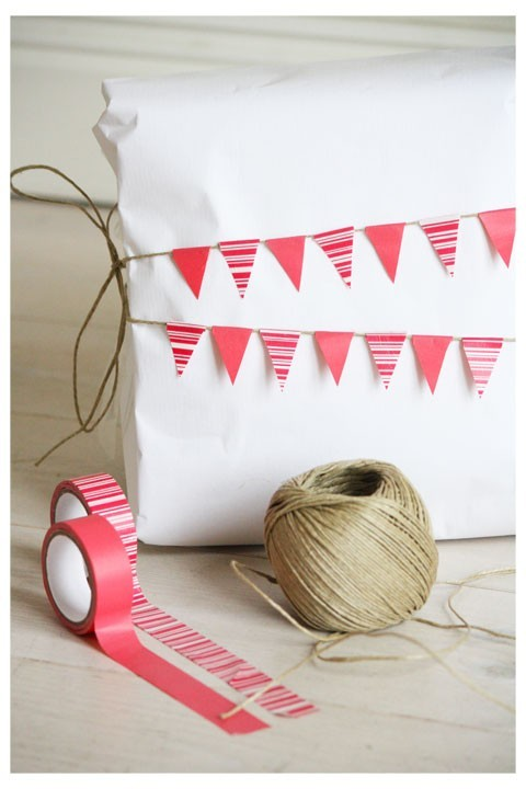 Washi tape bunting for Gifts!