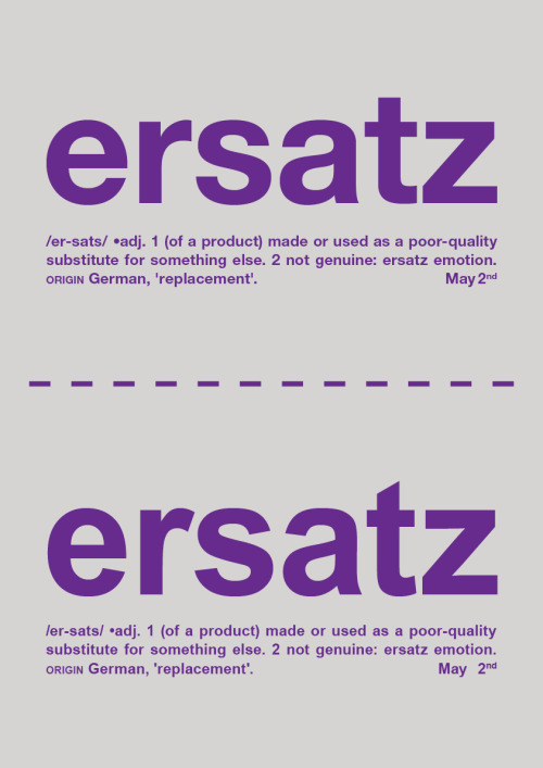 Day Eighty - Ersatz