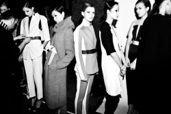 Backstage at 3.1 Phillip Lim Fall 2012