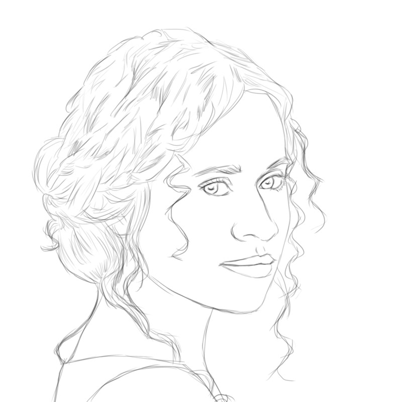 Working on another one of the Merlin cast. Angel Coulby as Guinevere.