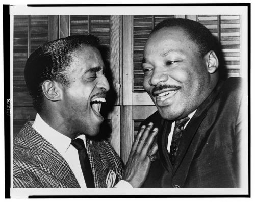 locpix:  The Rev. Dr. Martin Luther King and entertainer Sammy Davis Jr.  i wonder what the joke was he was telling…