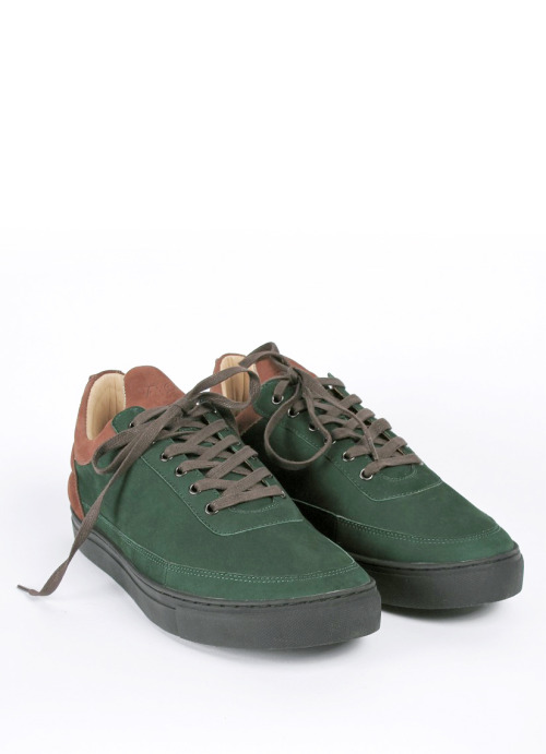 Filling Pieces Amsterdam  Low top green suede.