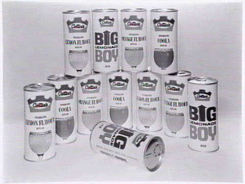Cottee's soft drink cans, packaging by Containers Limited Jan. 21, 1969