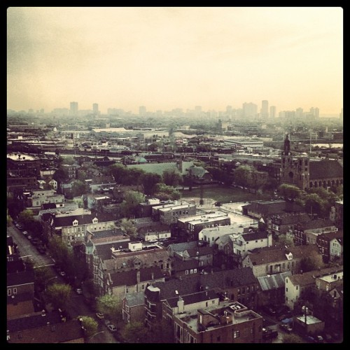 Day 2: Skyline, a foggy one but still… #photoadaymay  (Taken with instagram)