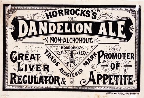 Image of a Horrocks's Non-Alcoholic Dandelion Ale label.