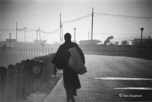 Title: When I walk I dream Scanned photograph. Location: Sea point, Cape Town. Copyright: Benjamin Haskins