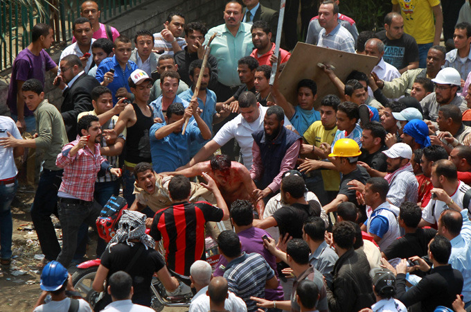Several protesters killed in Cairo attack |   Army intervenes as at least eleven people are killed during protest against military rulers near Ministry of Defence.