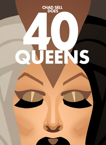 You can now preorder 40 QUEENS, the collection of my forty best pieces from the fourth season of Rupaul's Drag Race! (The book should be available by mid-May!)