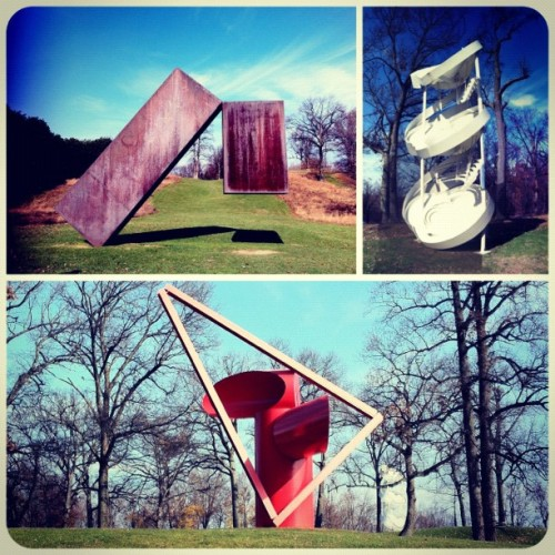 In the Sculpture Gardens… (Taken with Instagram at Storm King - Cornwall, NY)
