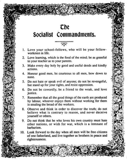The Socialist Ten Commandments