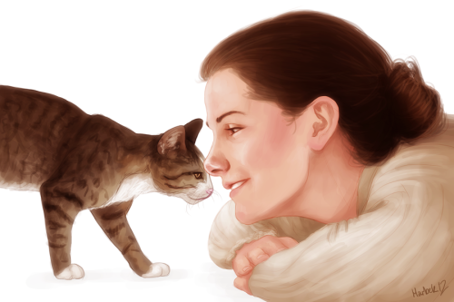 harbekart:  Molly Hooper with her cat, Toby. For subakunolily.