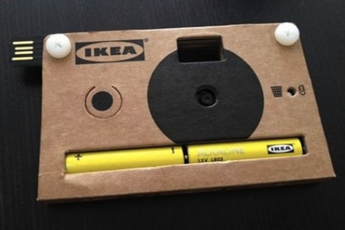 (via Ikea Gives Away Cardboard Digital Cameras)